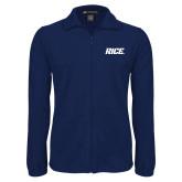 Fleece Full Zip Navy Jacket-Rice