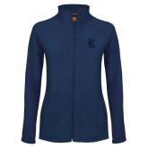 Ladies Fleece Full Zip Navy Jacket-R