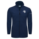 Columbia Full Zip Navy Fleece Jacket-Owl Head