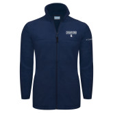 Columbia Full Zip Navy Fleece Jacket-Conference USA Baseball Champions