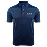 Navy Dry Mesh Polo-Rice Owls Wordmark