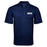 Navy Mini Stripe Polo-Rice