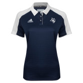 Ladies Adidas Modern Navy Varsity Polo-Owl Head