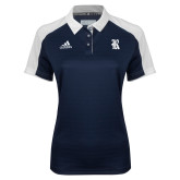 Ladies Adidas Modern Navy Varsity Polo-R