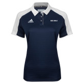 Ladies Adidas Modern Navy Varsity Polo-Rice Owls