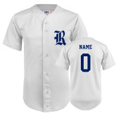 Replica White Adult Baseball Jersey-Personalized R
