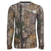Realtree Camo Long Sleeve T Shirt w/Pocket-Owl Head