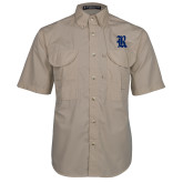 Khaki Short Sleeve Performance Fishing Shirt-R
