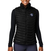 Columbia Lake 22 Ladies Black Vest-Owl Head