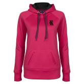 Ladies Pink Raspberry Tech Fleece Hoodie-R