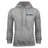 Grey Fleece Hood-Rice Owls Wordmark