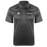 Adidas Climalite Charcoal Jaquard Select Polo-Rice Owls Wordmark