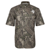 Camo Short Sleeve Performance Fishing Shirt-Owl Head