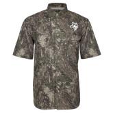 Camo Short Sleeve Performance Fishing Shirt-Owl Head