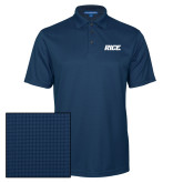 Navy Performance Fine Jacquard Polo-Rice