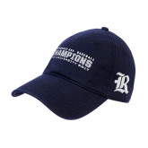 Navy Twill Unstructured Low Profile Hat-Conference USA Baseball Champions