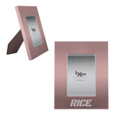 Pink Brushed Aluminum 3 x 5 Photo Frame-Rice Engraved