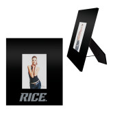 Black Metal 5 x 7 Photo Frame-Rice Engraved