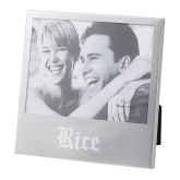 Silver 5 x 7 Photo Frame-Rice Wordmark Engraved