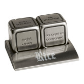 Icon Action Dice-Rice Wordmark Engraved