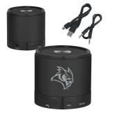 Wireless HD Bluetooth Black Round Speaker-Owl Head Engraved