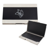 Bey Berk Carbon Fiber Business Card Holder-Owl Head Engraved