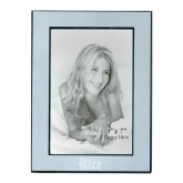 Silver Two Tone 5 x 7 Vertical Photo Frame-Rice Wordmark Engraved
