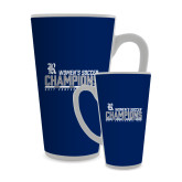 Full Color Latte Mug 17oz-2017 Womens Soccer Champions - Bar Design