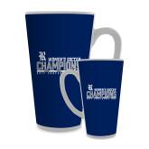 Full Color Latte Mug 17oz-2017 Womens Soccer Champions - Bar Design
