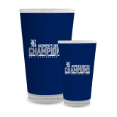 Full Color Glass 17oz-2017 Womens Soccer Champions - Bar Design