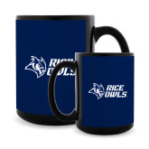 Full Color Black Mug 15oz-Rice Owls Stacked