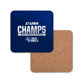 Hardboard Coaster w/Cork Backing-Conference USA Mens Tennis Champions