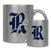 11oz Silver Metallic Ceramic Mug-R