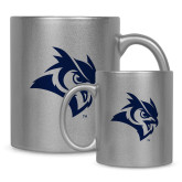11oz Silver Metallic Ceramic Mug-Owl Head