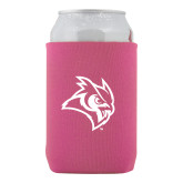 Collapsible Hot Pink Can Holder-Owl Head