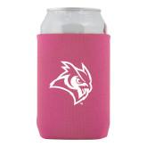 Neoprene Hot Pink Can Holder-Owl Head