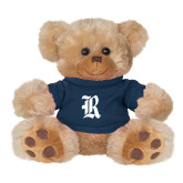 Plush Big Paw 8 1/2 inch Brown Bear w/Navy Shirt-R