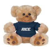 Plush Big Paw 8 1/2 inch Brown Bear w/Navy Shirt-Rice