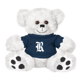 Plush Big Paw 8 1/2 inch White Bear w/Navy Shirt-R