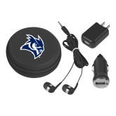 3 in 1 Black Audio Travel Kit-Owl Head