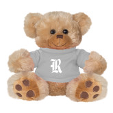 Plush Big Paw 8 1/2 inch Brown Bear w/Grey Shirt-R