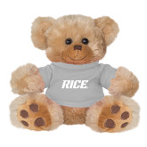 Plush Big Paw 8 1/2 inch Brown Bear w/Grey Shirt-Rice