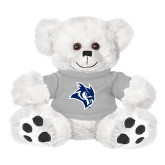 Plush Big Paw 8 1/2 inch White Bear w/Grey Shirt-Owl Head