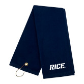 Navy Golf Towel-Rice
