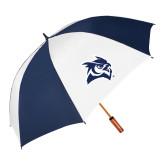 62 Inch Navy/White Vented Umbrella-Owl Head