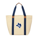 Natural/Navy Saratoga Tote-Owl Head