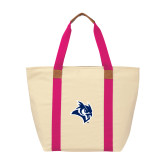 Natural/Tropical Pink Saratoga Tote-Owl Head