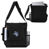Impact Vertical Black Computer Messenger Bag-Owl Head