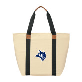 Natural/Black Saratoga Tote-Owl Head