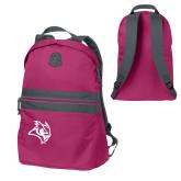 Pink Raspberry Nailhead Backpack-Owl Head